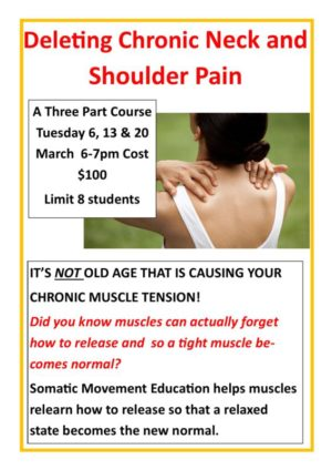 Somatic Movement Flyer Neck And Shoulder Pain